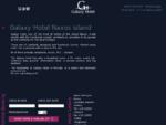 Galaxy Hotel on Naxos island - Cyclades Greece - beach hotel