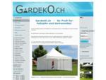 GardekO GmbH, Mürgistrasse 2, CH-6025 Neudorf, Zelte, Barstühle, Relaxliegen