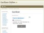Gardiner Online - gardiner på nätet