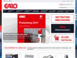 GARO AS, nettbutikk, elektronikkomponenter, ladestasjon, brytere, sikringsskapk,