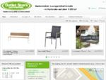 Gartenmöbel, Loungemöbel und Sonnenschirme für Karlsruhe und Baden-Württemberg. Outletstore Garten