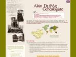Alain Dupas généalogiste professionnel. Recherches généalogiques aux Archives Diplomatiques de Nan