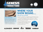 Windsor and Essex County Sound Production and Engineering | Genesis Productions