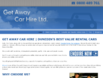 Car Rental Dunedin - Car Hire Dunedin | Get Away Car Hire