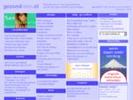 Gezondidee. nl - informatie voor uw gezondheid - gezond zijn - gezond worden - gezond blijven