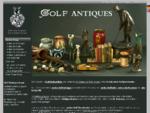 Golfantiquitäten edle Golfgeschenke, antike Golfschläger, Golfgrafik
