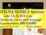 Gostilna Senica Senovo, catering, malice, kosila, prenočišča, sobe, šport