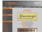 GRAVIRANJE raznih natpisa i firmi - InfoFORM - Beograd - Srbija
