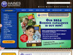 Haines Educational - providers of science and maths curriculum products and laboratory supplies