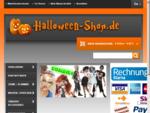 Halloweenartikel günstig einkaufen, Kostüme, Schminke, Dekorationen und vieles mehr...