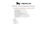 HEDRO AG - Exklusive Metzgereieinrichtungen