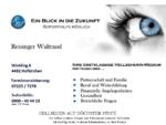 Ein Blick in die Zukunft - Hellsehen - Kartenlegen - Waltraud Reisinger