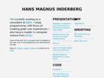Hans Magnus Inderberg