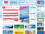 Billiga flyg hos BIG Travel - här kan du boka flyg, hotell, kryssningar, sista minuten, hyrbil,