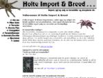 Holte Import Breed - Import, avl og salg av tarantella og skorpioner etc.