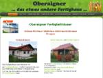 Startseite - Oberaigner Fertighäuser Holzhäuser Gartenhäuser Fertigteilhäuser