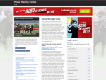 Horse Racing Forms - Horse Race Form Guides, Betting Odds and Tips