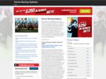 Horse Racing Sydney | Horse Racing Calendar, Betting Fields & Odds