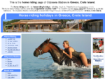 Horse riding in Greece Crete Island Odysseia Stables