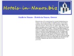 Guide to Naxos - Hotels in Naxos, Greece