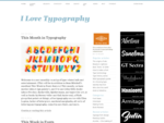fonts, typefaces and all things typographical — I love Typography ILT