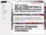 Indiana Content Inside. Conception et rédaction de contenus pub, presse, digitaux, TV . Paris