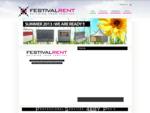 Festivalrent Specialist in verhuur van toebehoren voor Festivals en Evenementen Dranghekken, B