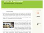 Blokeliai Izoblok | Izoblok blokeliai