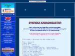Jannes hemsida - Svenska karaokelistan.