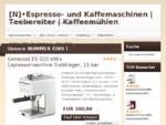 [N]•Espresso- und Kaffemaschinen | Teebereiter[N]•Espresso- und Kaffemaschinen | Teebereiter | Kaffe