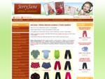 Dětské oblečení český výrobce Jerryjane, kojenecké body, pyžamo, tepláky