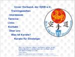 Die Homepage der Karateka aus Heusenstamm