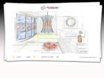 Kaleidoscopio - Decorazioni vetro porte, Vetrate artistiche Napoli, illuminazione interni design,