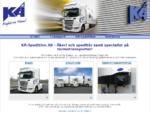 KÅ-Spedition AB, Åkeri, Spedition, Termotransport, Logistik, Positionering, Transport, Lastbil