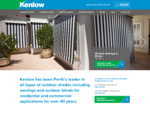 Awnings Perth | Outdoor Blinds Perth | Shades - Kenlow