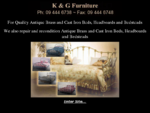 KG Furniture manufacturer of quality brass beds. Formerly known as Keruse and Gairdner