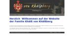 Familienwebsite Khälß von Khälßberg