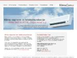 Klima naprave, klimatske naprave, montaža in servis klima naprav - KlimaCom