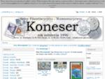 Sklep Filatelistyczno-Numizmatyczny KONESER, filatelistyka, znaczki pocztowe, monety, katalogi,
