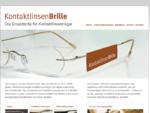 MPGE-Contactlinsen KontaktlinsenBrille - Die Ersatzbrille fuuml;r Kontaktlinsentrauml;ger