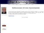 Per Korning Ove´s hjemmeside
