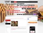 Bar Churreria PIRINEOS - LA VENTANA 976 694 962 *Hamburguesas, Bocadillos, Raciones, Baciones,