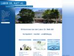 Labor Dr. Matt AG - Dienstleistungslabor für Lebensmittelanalytik, Arzneimittelanalytik, Umweltanaly