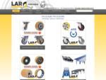 LAR d. o. o. - Transportna kolesa, valjčki, letve in tirnice, kolesa za viličarje, palete, val