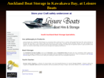 Boat storage South Auckland at Leisure Boats, Kawakawa Bay - Store your boat with Leisure.