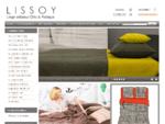 Lissoy linge de lit chic et pratique, drap housse, housse de couette, taies d'oreiller, coussin