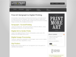Live to Print | Fine Art Printery — Serigraph Silk Screenprinting - Giclée Digital Art Print