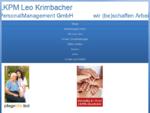 LKPM Leonhard Krimbacher PersonalManagement GmbH - Home