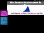 rubriques utiliser fléche navigation - Nina Vacances locations vente de mobil-home