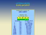 Lotteria Italia 2013 tutti i biglietti vincenti del 6 gennaio 2014, Eurojackpot dell'11 aprile 2014